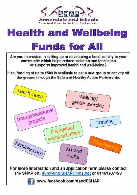 health and wellbeing funds for all flye